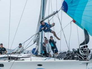 Some acrobatics on display on board Kym Clarke's Fresh. Photos: Take 2 Photography