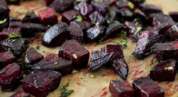 Roasted Beets with Parsley | DoYouEvenPaleo.net