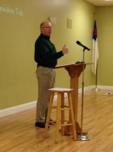 Photo of David teaching