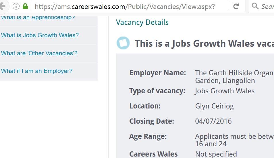 Job opportunity at Garth Organic