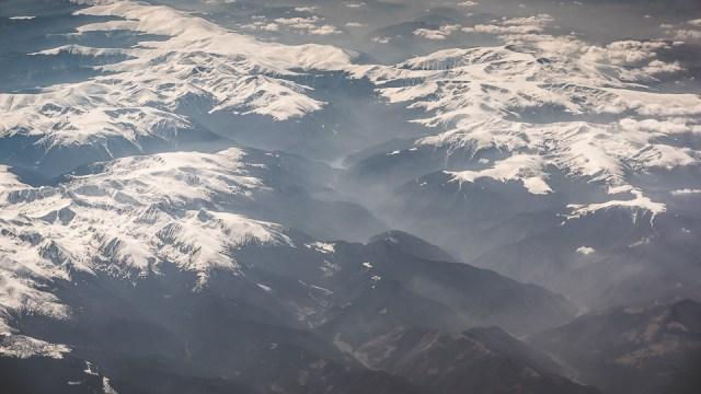Carpații Meridionali fotografiați din avion la final de iarnă 3