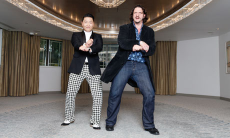 Psy teaches Jay Rayner at the Dorchester