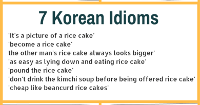 7 Korean idioms using rice cakes