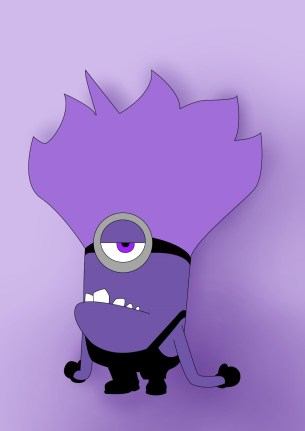 How To Draw Purple Minion From Despicable Me - Draw Central