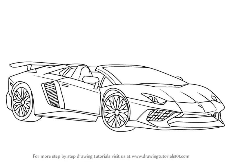 A How To Draw Lamborghini Aventador LP7504 SV Roadster - Www.guawa.co