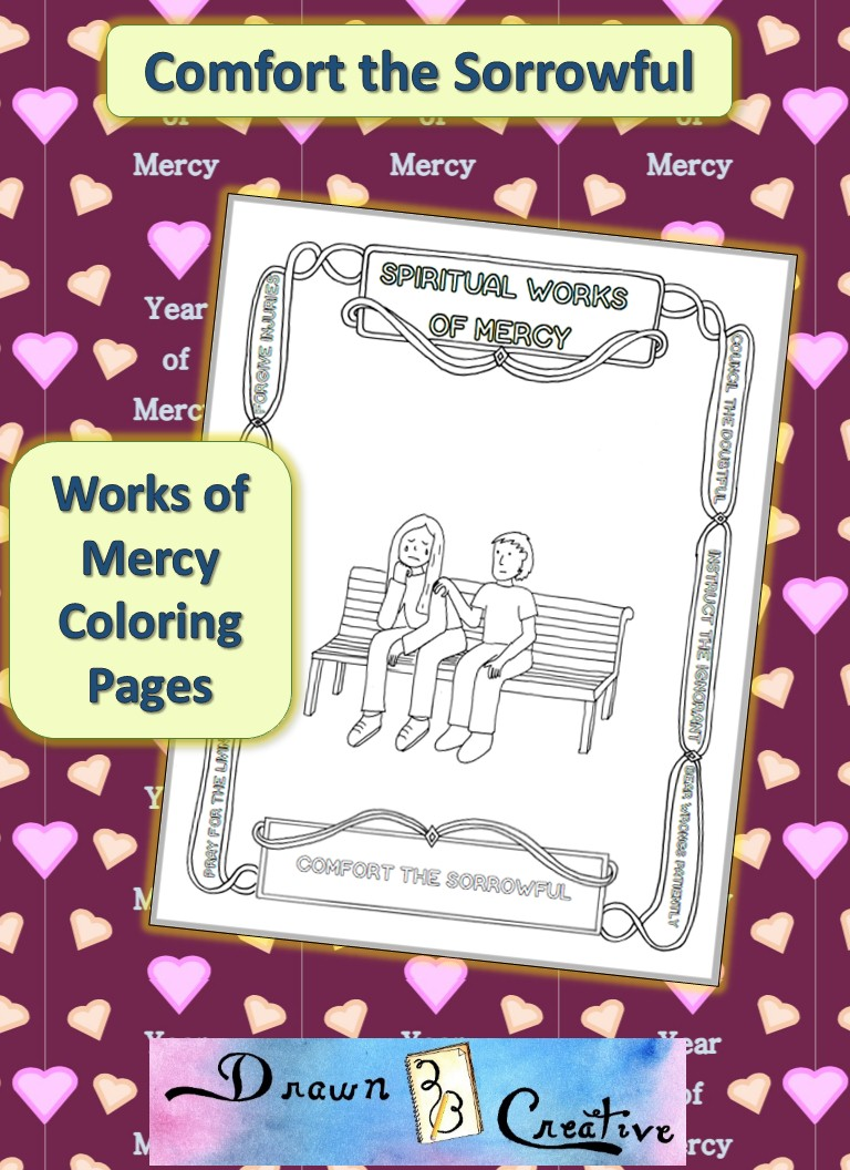 Comfort the Sorrowful coloring page