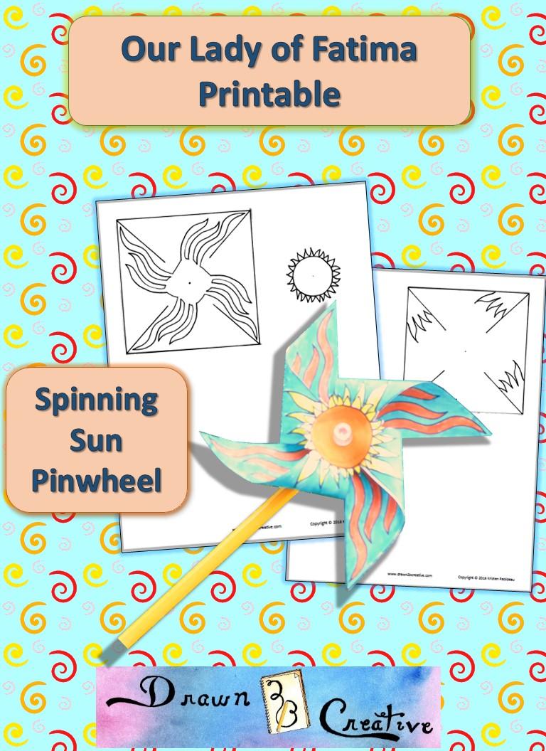 Spinning Sun Printable Pinwheel