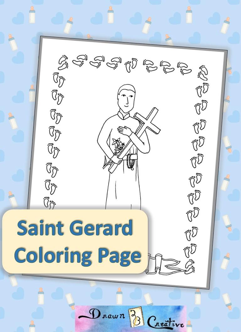 saint-gerard-coloring-coloring-page-badge