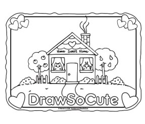 coloring_page_home_sweet_home