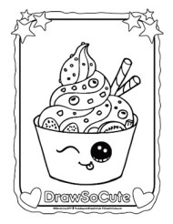 Yogurt Coloring Page Draw So Cute