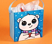 mini gift bag polar bear