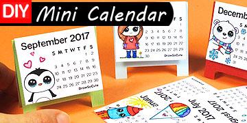 mini calendar diy craft