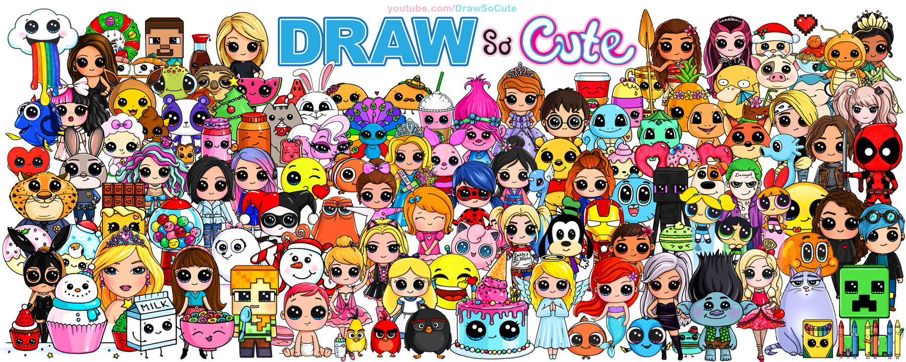 Draw So Cute Page 2 Cute Drawing Videos Coloring Pages And