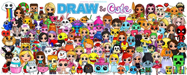 draw so cute 2nd anniversary character poster