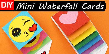 mini waterfall cards craft diy