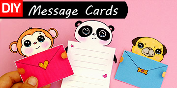 craft message cards animal diy