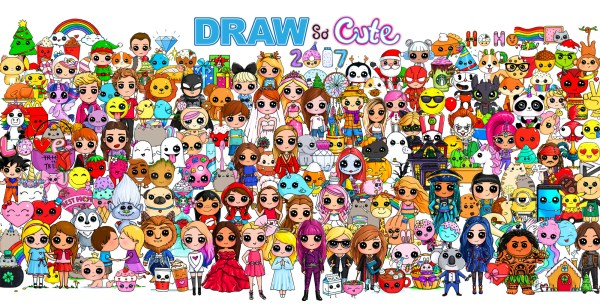 draw so cute 2017 characters poster