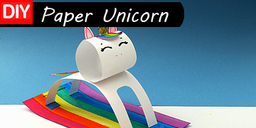 craft paper unicorn