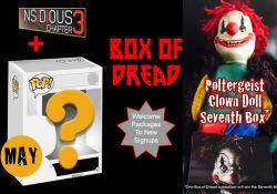 May 2015 Box of Dread - Mystery Funko and Insidious Chapter 3