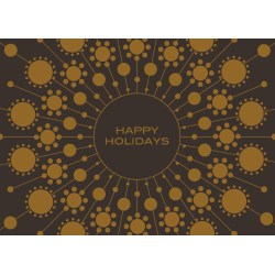 Tempting Holiday Card Printing That Reads Happy Holidays On Brown Paper Temple Rock Holiday Card Printing Downers Illinois Happy Holidays Cards To Print Happy Holidays Cards Business Front cards Happy Holidays Cards
