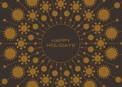 Tempting Holiday Card Printing That Reads Happy Holidays On Brown Paper Temple Rock Holiday Card Printing Downers Illinois Happy Holidays Cards To Print Happy Holidays Cards Business Front