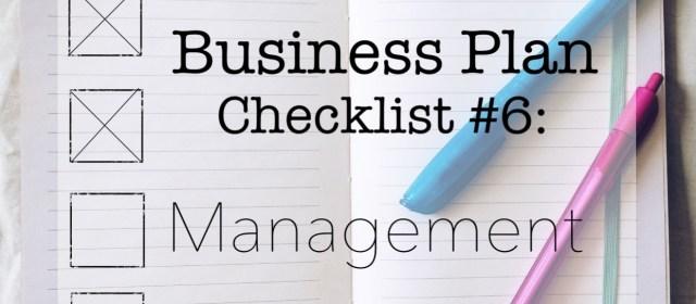 Coffee Shop Business Plan: Management