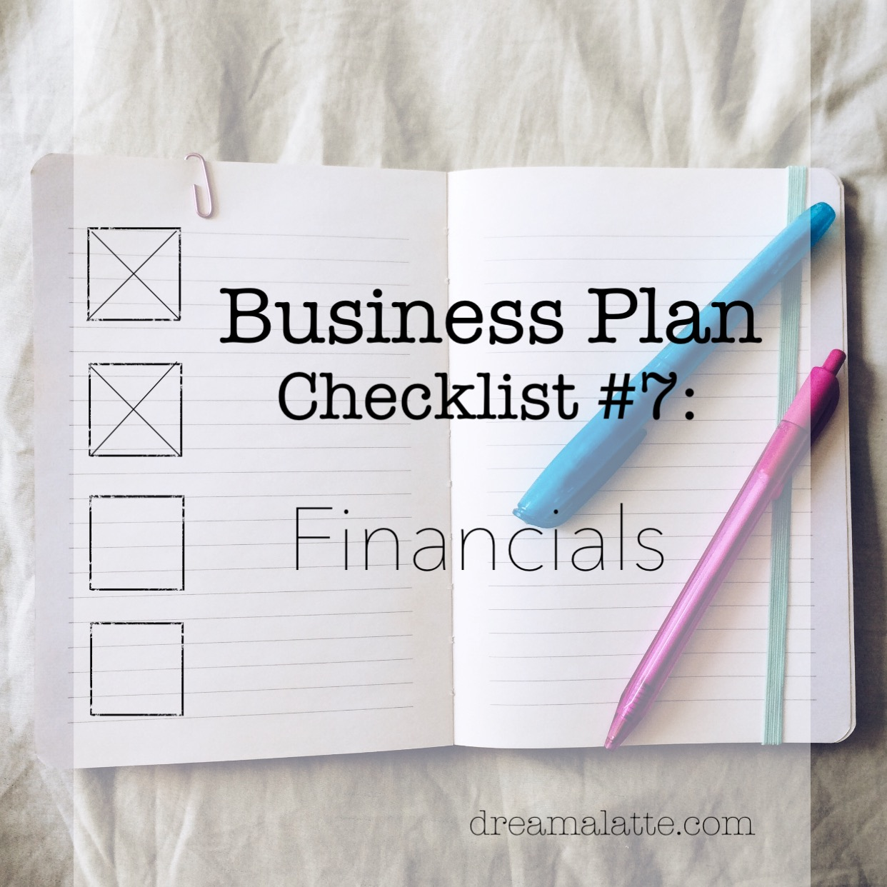 coffee shop business plan financials dream a latte click here for a able dream a latte financials checklist to help outline the financial section of your business plan