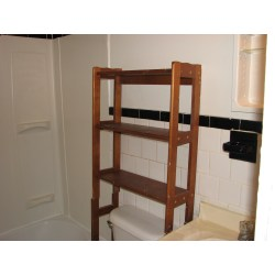 Small Crop Of Wood Shelf For Bathroom