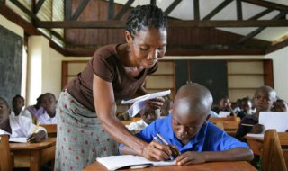 A teacher in UNICEF supported school Liberia