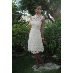 Small Crop Of Ivory Lace Dress