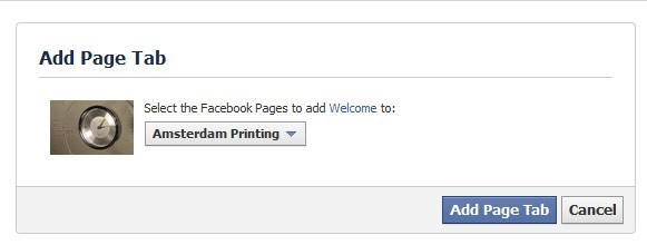 facebook add new tab