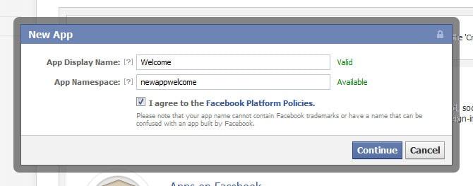 facebook new application