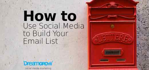 social media to email list growth