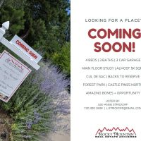 Coming soon in Castle Pines North.
