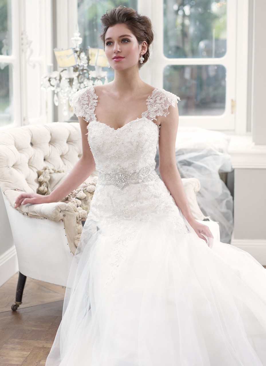 lace wedding dress wedding dresses with lace Lace Cap Sleeve Wedding Dress