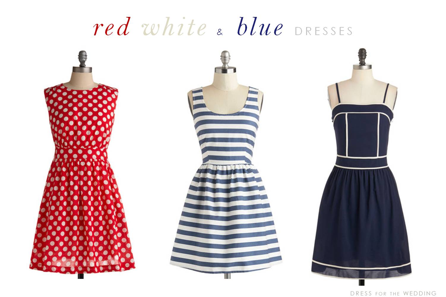 bluedresses summer dresses for wedding Red White and Blue Summer Dresses