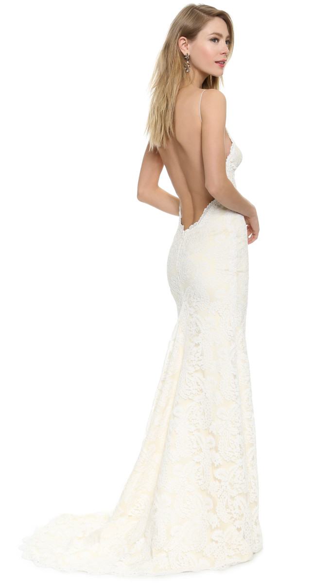 beautiful wedding dresses for beach weddings casual wedding dresses Backless Katie May Gown for a Beach Bride