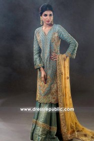 DR14439 - Turquoise Sharara USA for Pakistani Bride