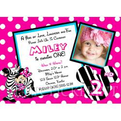 Small Crop Of Minnie Mouse Birthday Invitations