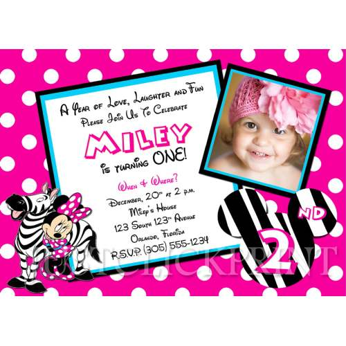 Medium Crop Of Minnie Mouse Birthday Invitations