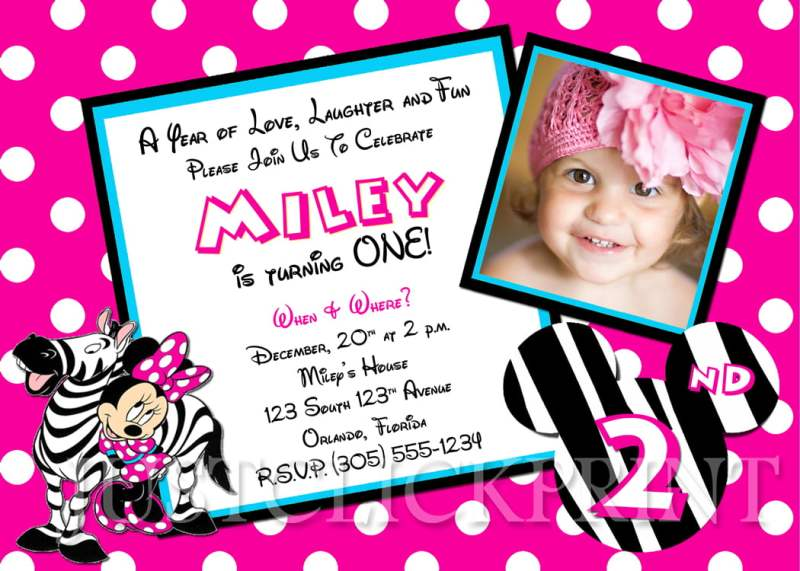 Large Of Minnie Mouse Birthday Invitations