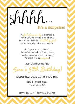 Gray Plain Wording Surprise Birthday Party Invitations Free Invitation Surprise Birthday Invitations Ebay Surprise Birthday Invitations Templates Surprise Birthday Invitations Wording