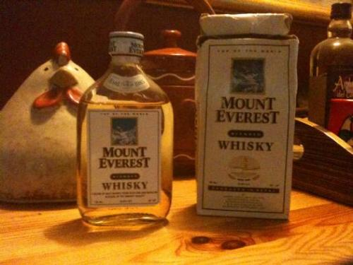 mount everest whisky Review (of a sort): Mount Everest Whisky