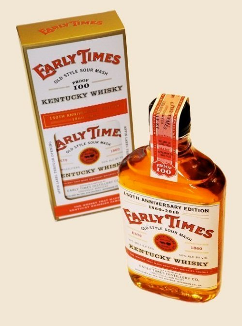 early times 150th anniversary whiskey Review: Early Times 150th Anniversary Edition Kentucky Whisky