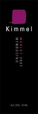 kimmel merlot Review: 2007 Kimmel Merlot Mendocino