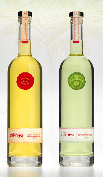 sub rosa bottles Review: Sub Rosa Spirits Saffron Vodka and Tarragon Vodka