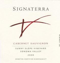 2008 Signaterra Sunny Slope Cabernet sauvignon Tasting Report: Signaterra Wines