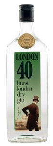 London 40 dry gin 110x300 Review: London 40 Dry Gin