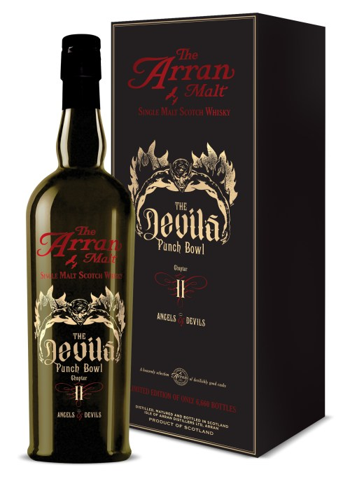 DevilsPunchBowl II Bottle Box 525x729 Review: The Arran Malt Devil's Punch Bowl Chapter II   Angels & Devils