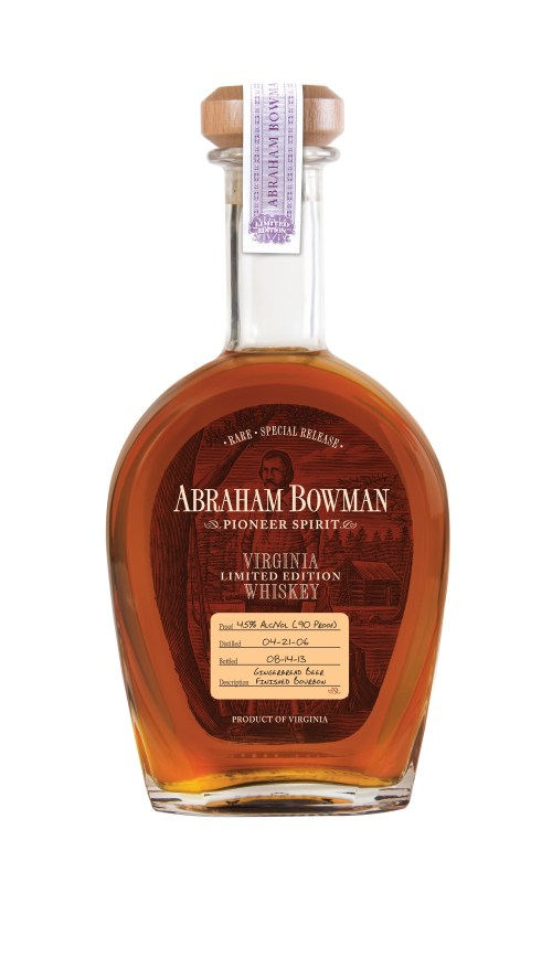Abraham Bowman digitized Gingerbread Beer Finished Bourbon 525x911 Review: Abraham Bowman Gingerbread Beer Finished and Port Finished Bourbons